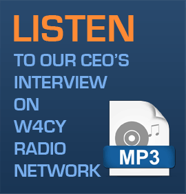 Listen to our CEO being interviewed on<br />W4CY Radio The Intertainment Network