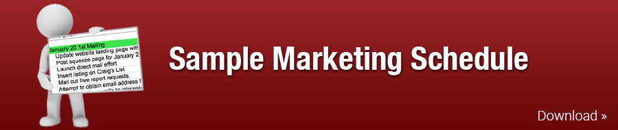 Sample Marketing Schedule